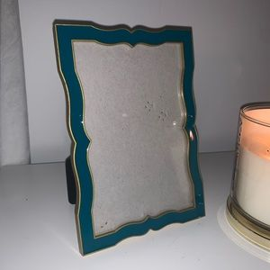 Teal Frame with Gold Trim